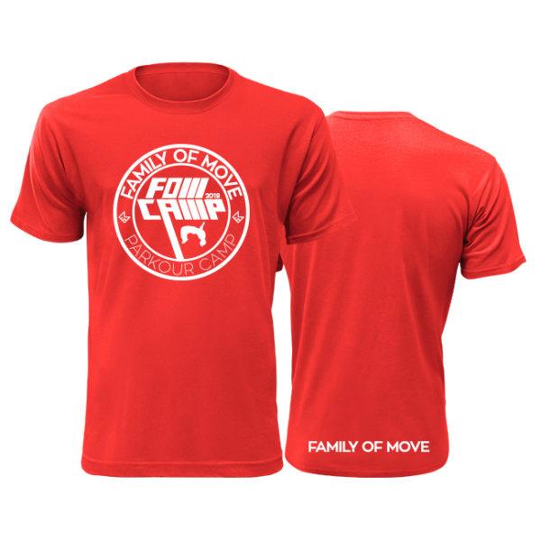 červené parkourové triko fom camp 2018