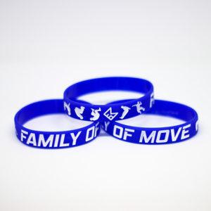 Modrý náramek s parkour motivem