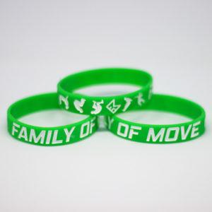 Zelený náramek s parkour motivem