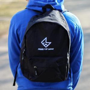 černý batoh - basic logo