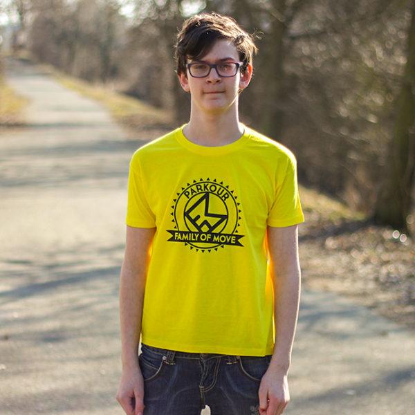 žluté parkourové triko
