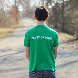 zelené parkourové tričko