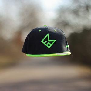 Zelenočerný snapback 3D logo